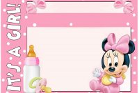 Modern Minnie Mouse Baby Shower Invitation – Free Printable Invitation with Minnie Mouse Baby Shower Invitations