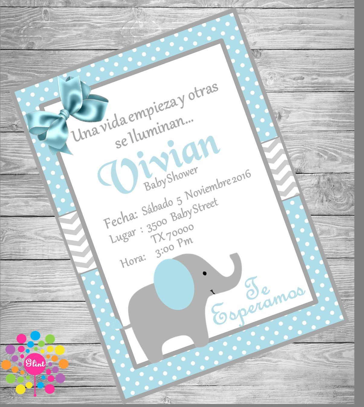 Modern New!!!! Blue Elephant!!! Baby Shower Invitation | Pinterest | Babies with Review Invitaciones Para Baby Shower De Niño