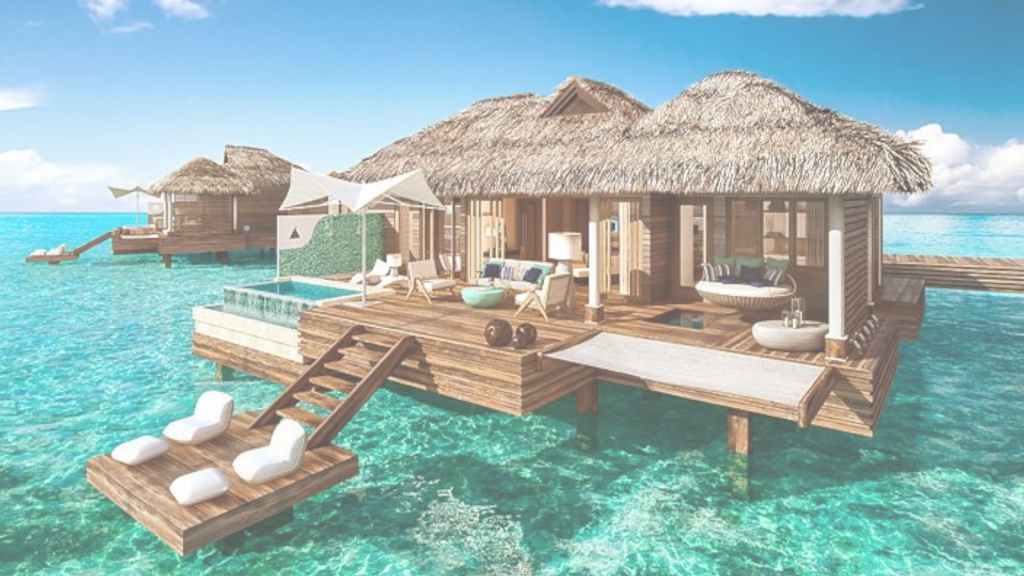 Modern New Overwater Bungalows In Jamaica Are What Dreams Are Made Of - Youtube with Sandals Over The Water Bungalows