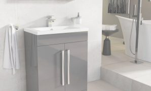 Modern Newton Anthracite Grey Bathroom Standing Vanity Sink Unit Ceramic with regard to Bathroom Vanity Units
