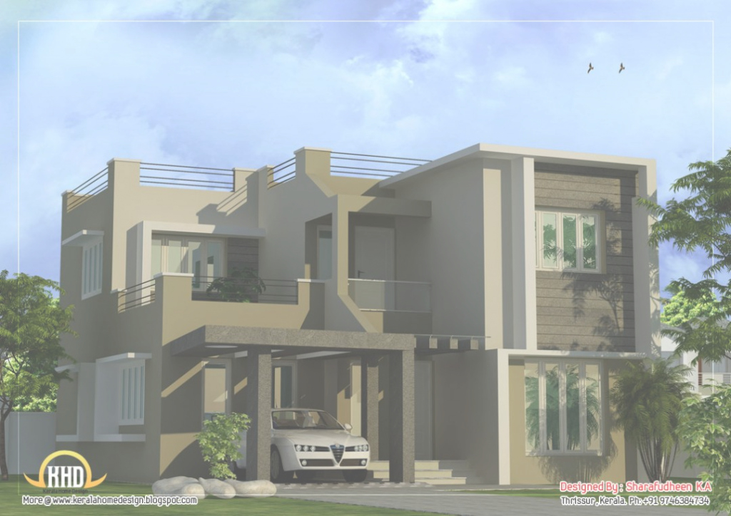 Modern Nigerian House Plans Modern Duplex Home Design Sq Ft One Story regarding Nigerian House Plans With Photos