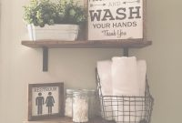 Modern Open Shelves | Farmhouse Decor | Fixer Upper Style | Wood Signs for Bathroom Shelf Decorating Ideas