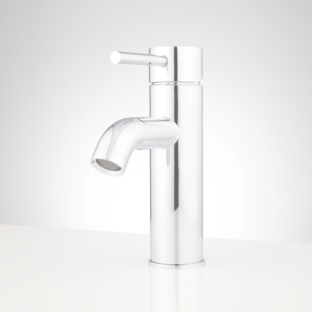 Modern Oxley Single-Hole Bathroom Faucet - Bathroom throughout Chrome And Brass Bathroom Faucets