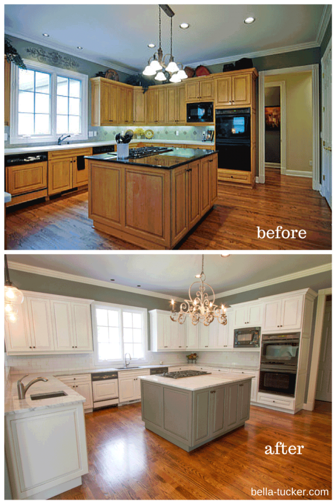Modern Painted Cabinets Nashville Tn Before And After Photos pertaining to Painted Kitchen Cabinets Before And After