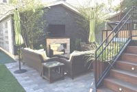 Modern Patio With A Fireplace And A Gas Grill In Chicago. throughout Awesome Urban Backyard