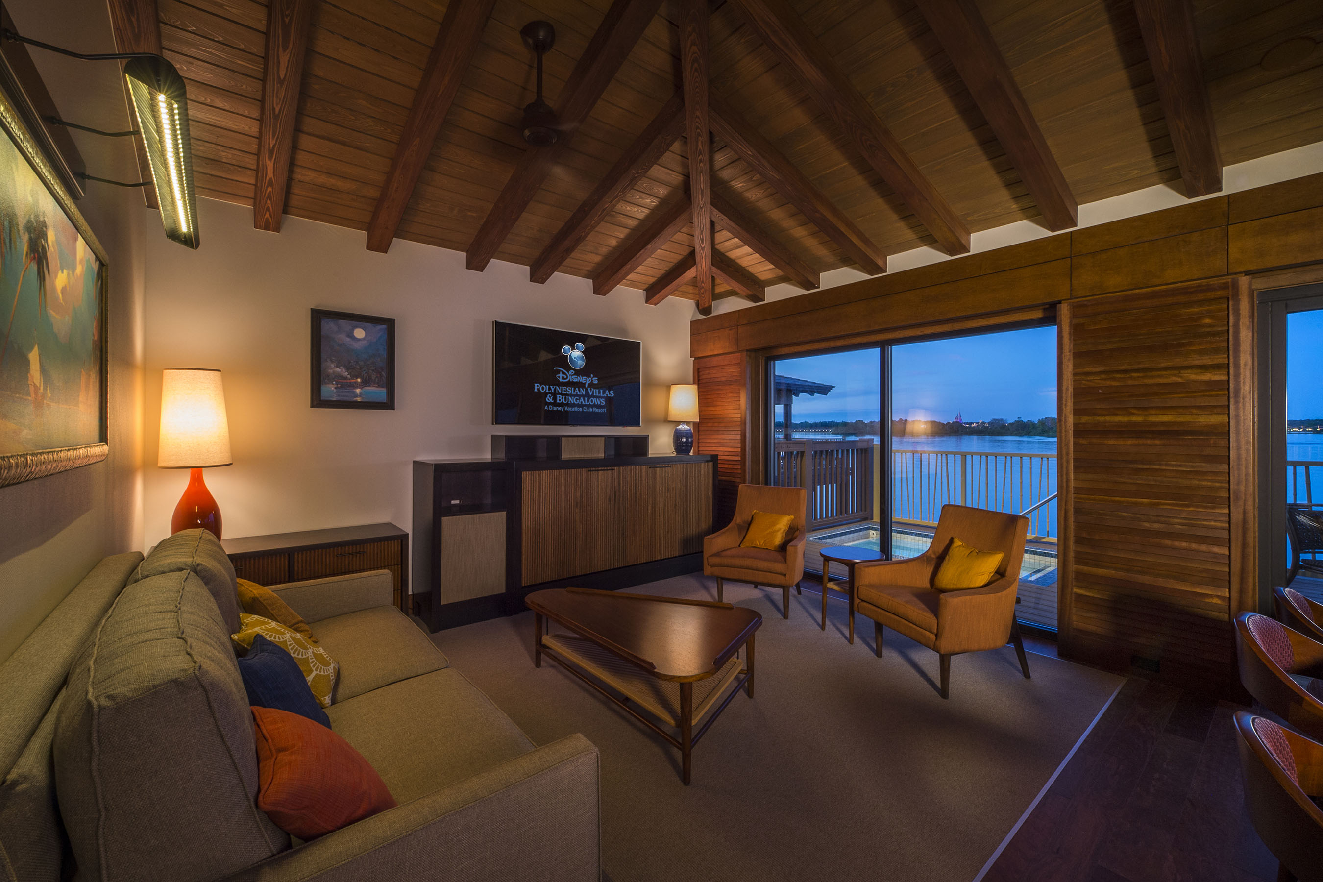 Modern Photo Tour Of The Bora Bora Bungalows At Disney's Polynesian Village in Beautiful Disney Polynesian Resort Bungalows