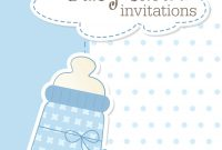 Modern Printable Baby Shower Invitations throughout Free Printable Baby Shower