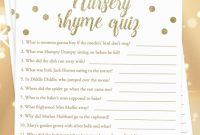 Modern Printable Baby Shower Nursery Rhyme Quizlittlesizzle. Click regarding Baby Shower Rhymes