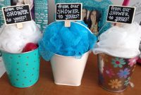 Modern Prizes For Baby Shower Games- Mini Buckets Filled With Loofa, Body inside Lovely Baby Shower Game Prizes