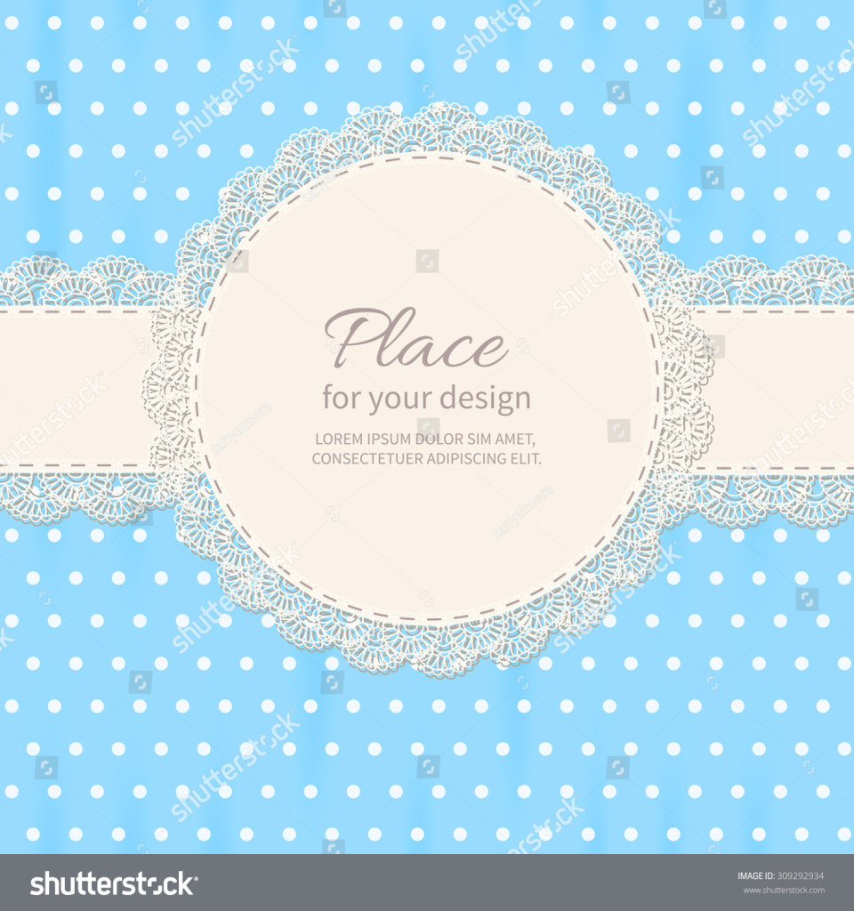 Modern Retro Background Lace Polkadot Wallpaper Baby Shower Stock for Baby Shower Wallpaper