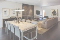 Modern Rustic Dining Table, Living Room, Home Renovation In Madison, Wisconsin pertaining to Dining Table In Living Room