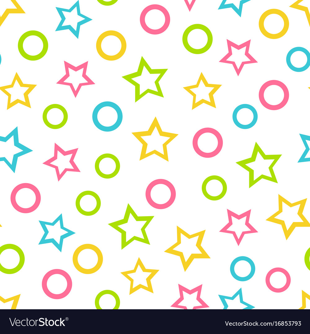 Modern Seamless Wallpaper Color Pattern For Kids Vector Image inside Color Pattern Design
