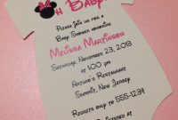 Modern Set Of 10 Pink Minnie Mouse Baby Shower Invitations – Wording with regard to Review Minnie Mouse Baby Shower Invitations