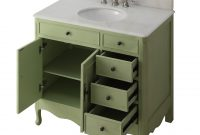 "Modern Shop 38"" Benton Collection Fayetteville Distressed Green Bath Vanity throughout Review Bathroom Sink And Vanity"