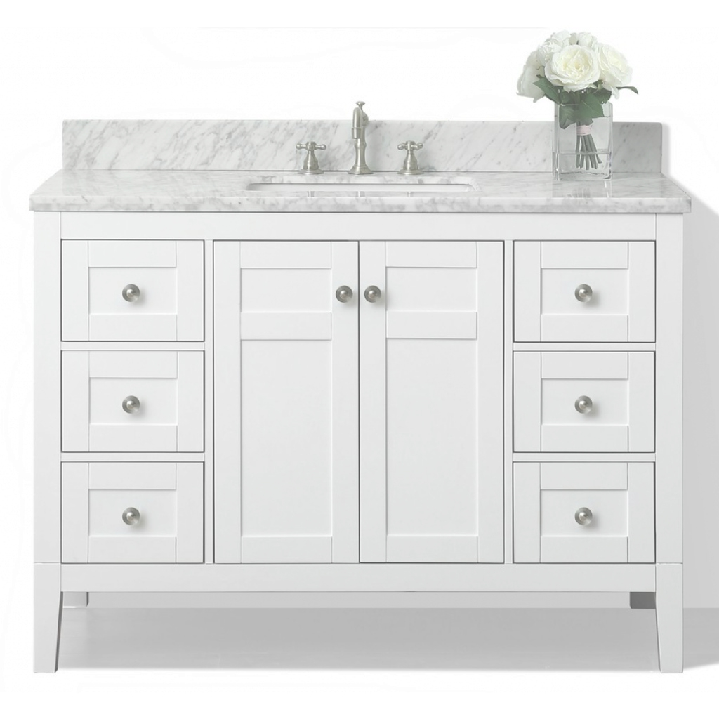 Modern Shop Ancerre Designs Maili White Single Sink Vanity With White inside Inspirational Single Sink Bathroom Vanity