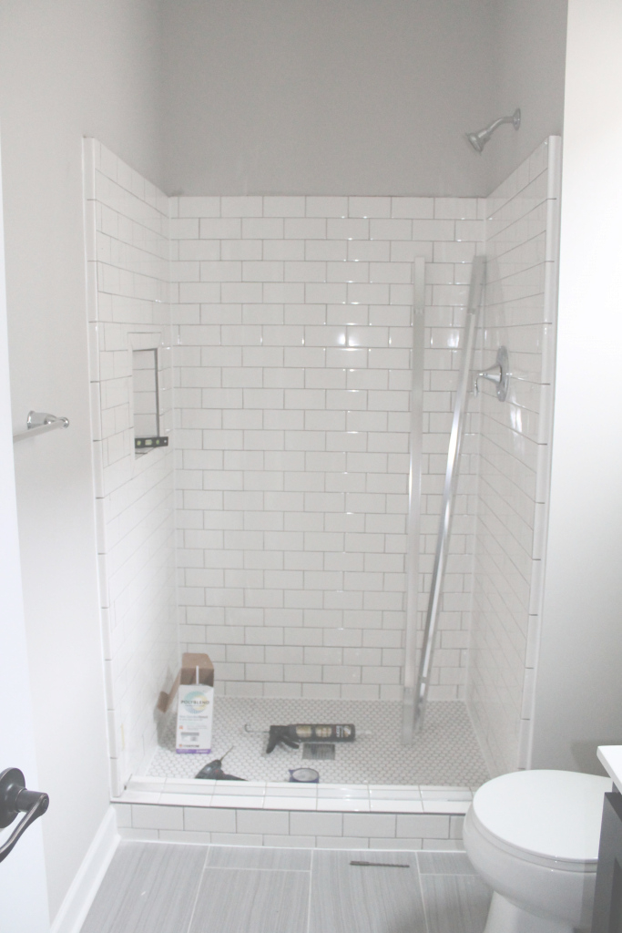 Modern Shorewood, Mn Bathroom Remodels & Tile Fireplace | Pinterest | White inside Best of Gray Bathroom Tile Ideas