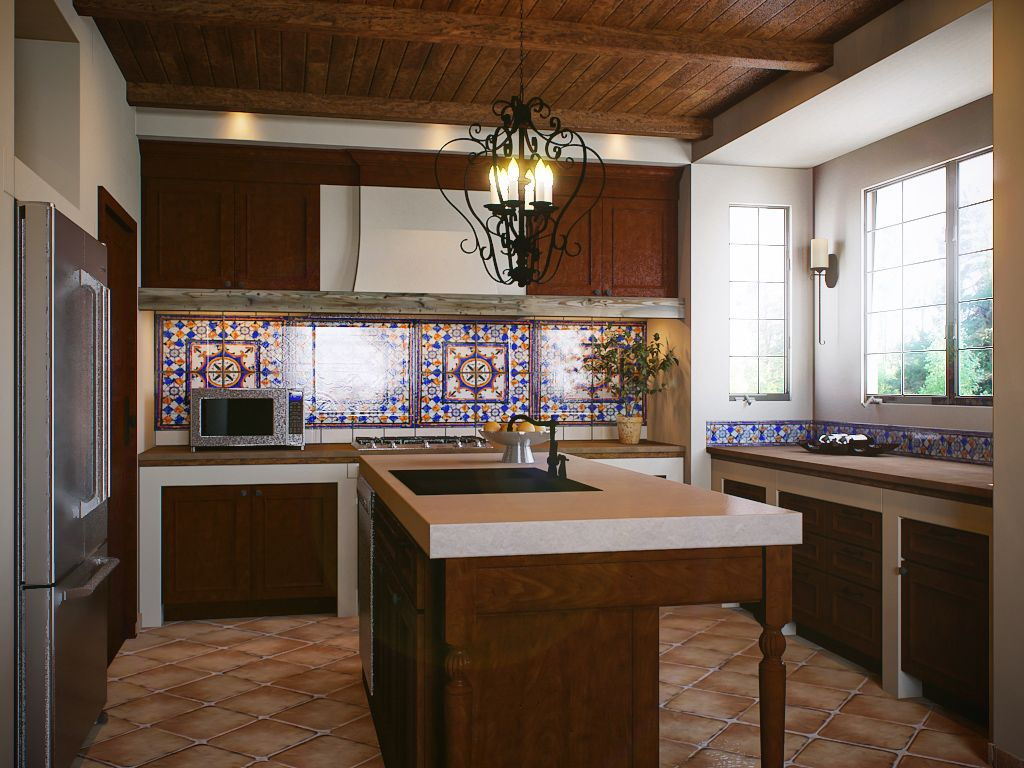 Modern Spanish Colonial Kitchen - Design Boards - Kitchens | Santa Fe with Colonial Kitchen Design