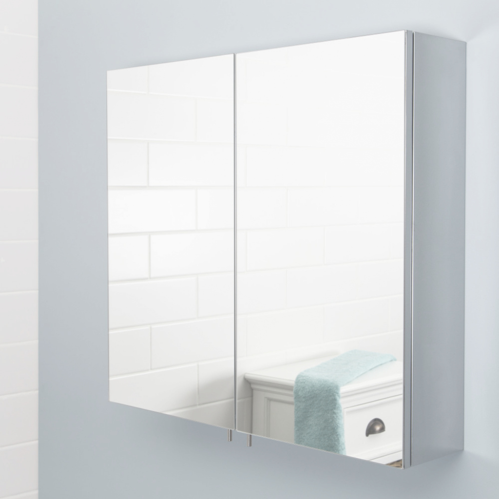 Modern Stainless Bathroom Mirror Cabinet — Lindsay Decor : Putting In inside Bathroom Mirror Cabinet