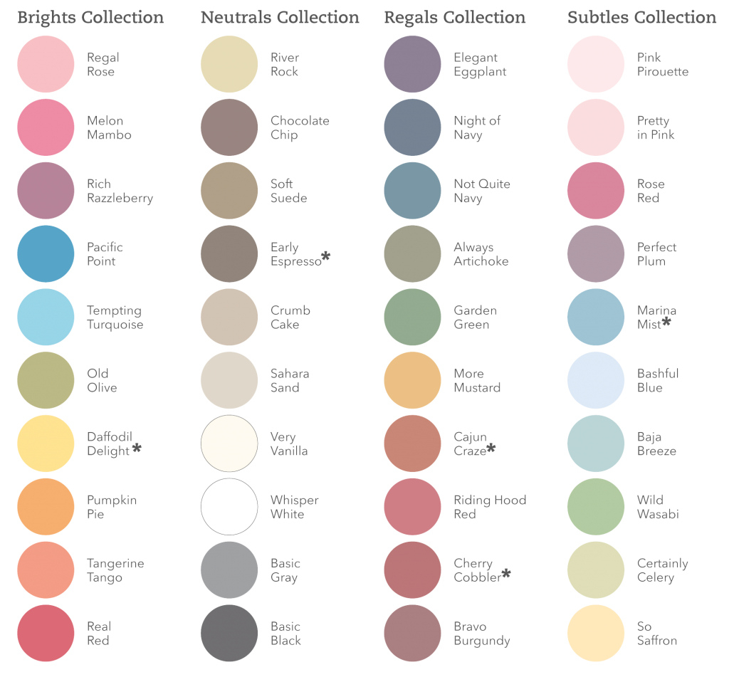 Modern Stampin' Up! Overhauls Color Palette - Scrapbook Update intended for Color Palette Names