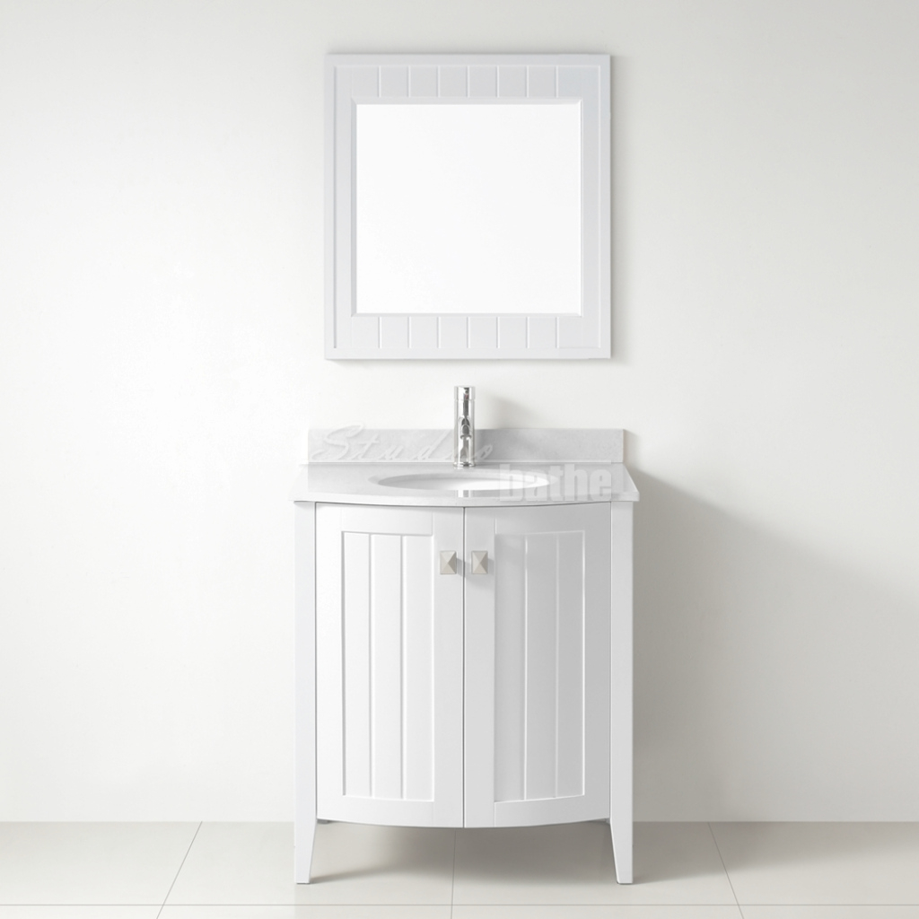 Modern Studio Bathe Bridgeport 30 Inch White Bathroom Vanity, Hand-Stained within 30 White Bathroom Vanity