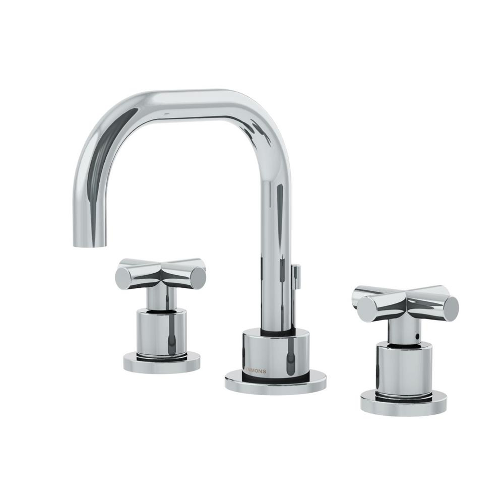 Modern Symmons Dia 8 In. Widespread 2-Handle Bathroom Faucet With Cross regarding Review Cross Handle Bathroom Faucet
