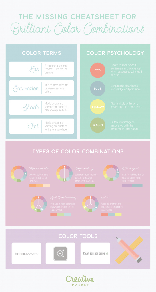 Modern The Missing Cheatsheet For Brilliant Color Combinations ~ Creative inside Fresh Branding Color Schemes