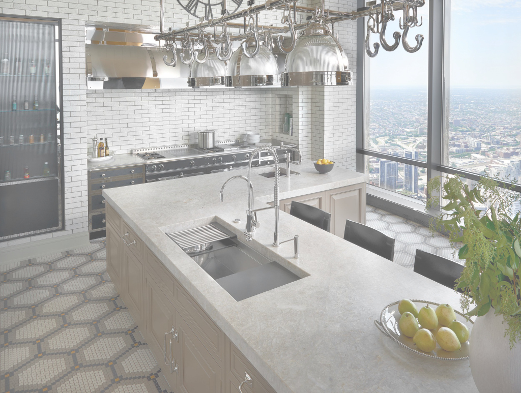 Modern This Galley Ideal Workstation 4 Sits Perfectly In This High-Rise throughout Kitchen Sink Chicago