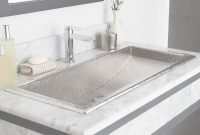 Modern Trough 36 Rectangular Brushed Nickel Bathroom Sink | Native Trails in Best of Trough Sink Bathroom