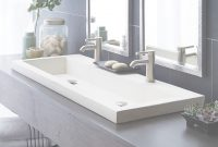 Modern Trough 4819 – Double Basin Nativestone® Bathroom Sink | Native Trails intended for Unique Trough Sinks For Bathrooms