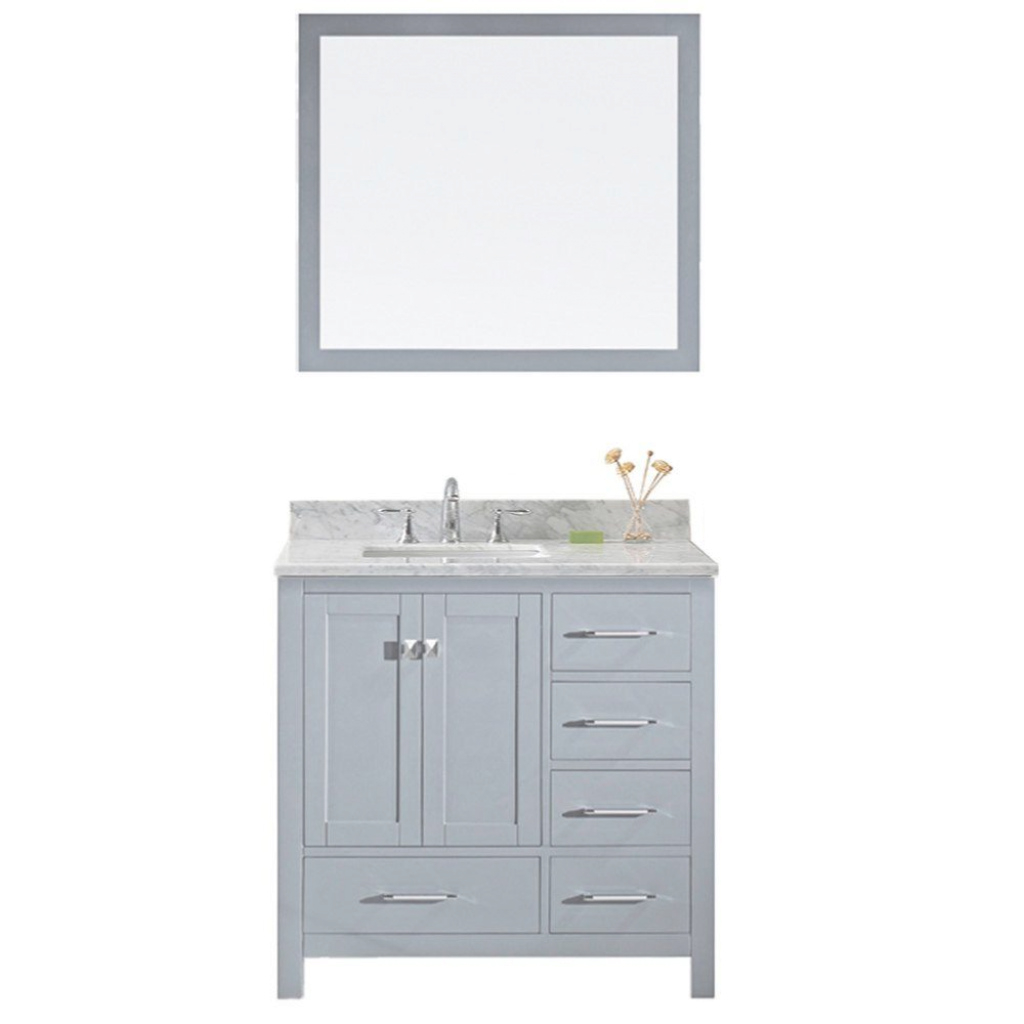 Modern Virtu Usa Caroline 72 In. W X 36 In. H Vanity With Marble Vanity Top intended for Awesome Home Depot Vanity Bathroom