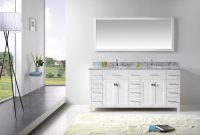 Modern Virtu Usa Caroline Parkway 72 Bathroom Vanity Cabinet In White in Review Bathroom Vanity Cabinet