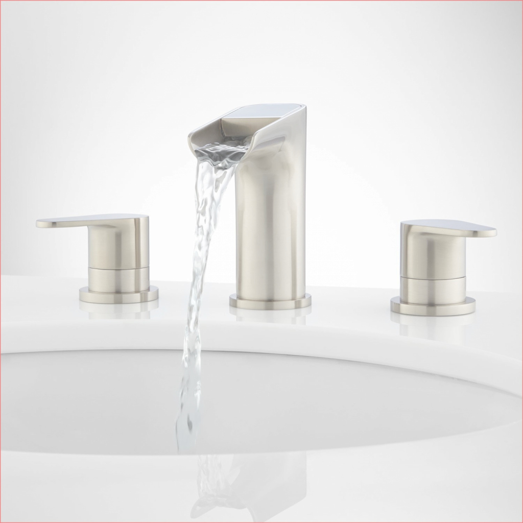 Modern Waterfall Bathroom Sink Faucets Contemporary Bathroom Faucets throughout Contemporary Bathroom Faucets