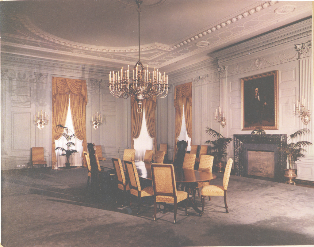 Modern White House State Dining Room, 07/15/1952 | Original Caption… | Flickr with regard to White House State Dining Room
