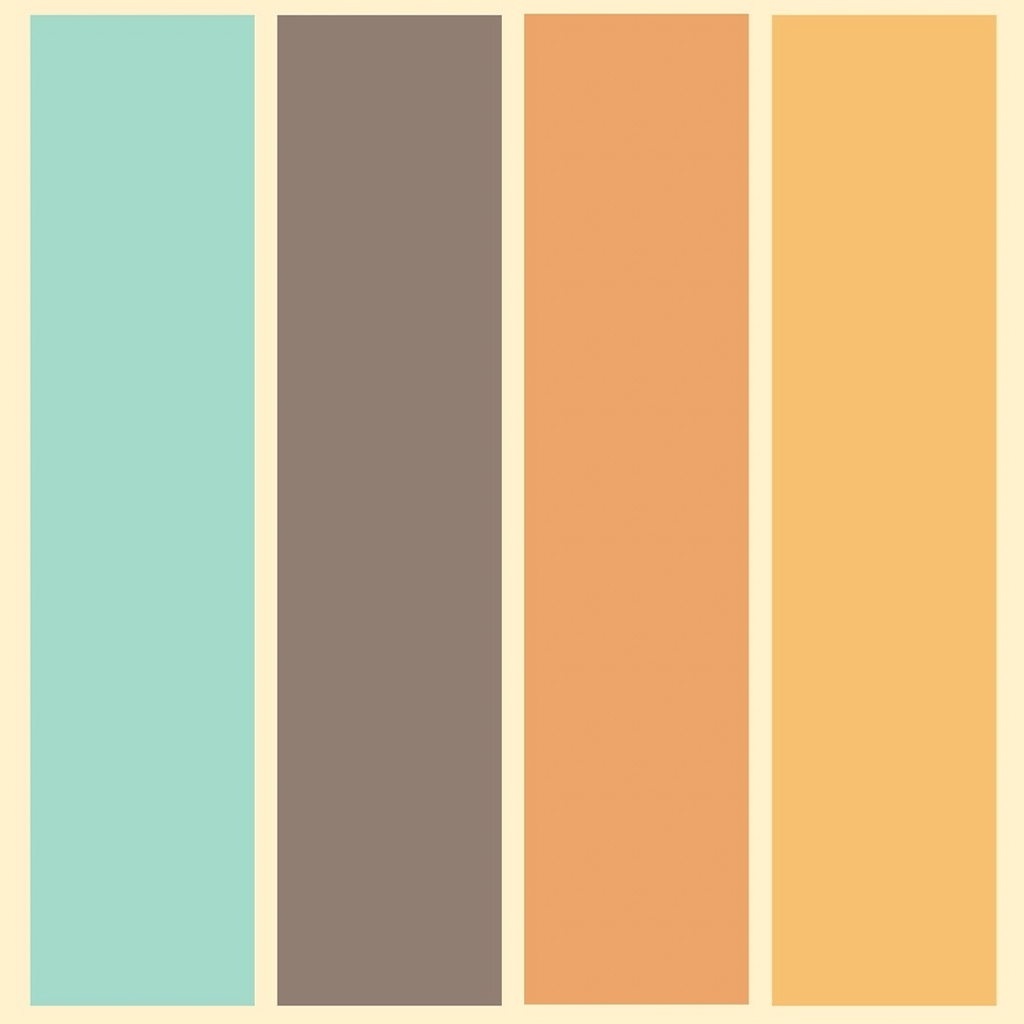 "Modular 1970's Color Palette Retro Stripe Pattern""mikhail Siskoff intended for 70S Color Palette"