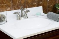 Modular 25 X 22 Bathroom Vanity Top With Recessed Bowl And 4 In Faucet Spread in Bathroom Vanity With Top
