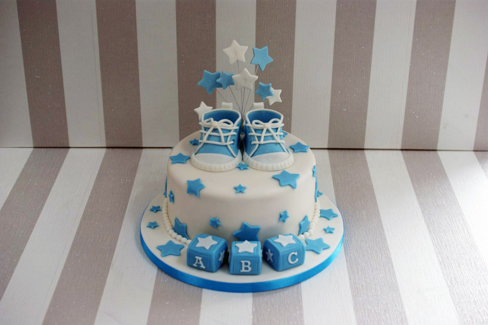 Modular 29 Irresistible 2 Tier Baby Boy Shower Cakes | Cookinginstilettos pertaining to Baby Boy Shower Cakes