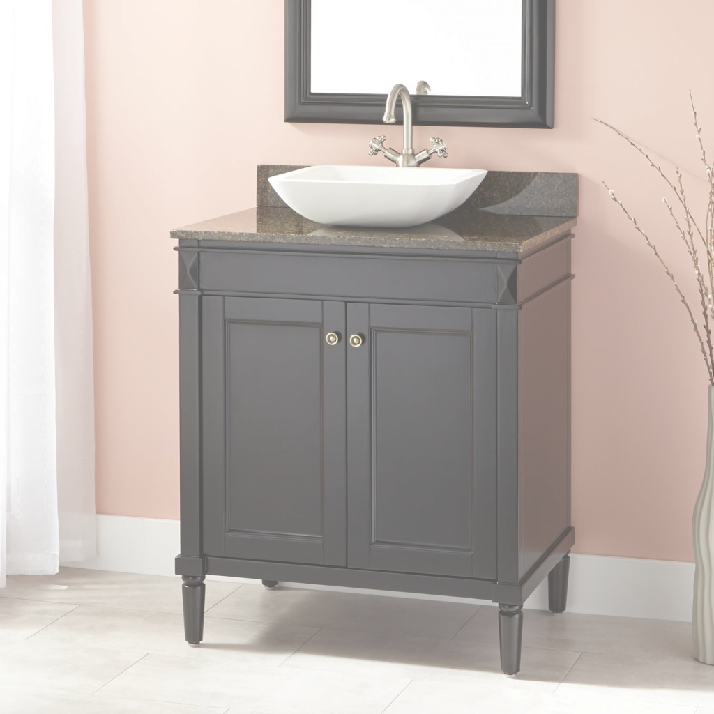 "Modular 30"" Chapman Vessel Sink Vanity - Espresso - Bathroom inside Bathroom Vanity With Vessel Sink"