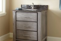 "Modular 30"" Venica Teak Vanity For Rectangular Undermount Sink – Gray Wash inside 30 Bathroom Vanity"