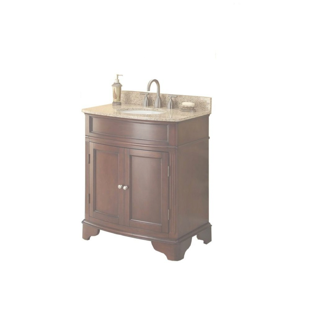 Modular 31 In. W X 35 In. H X 20 In. D Vanity In Cherry With Granite Vanity with Awesome Home Depot Vanity Bathroom