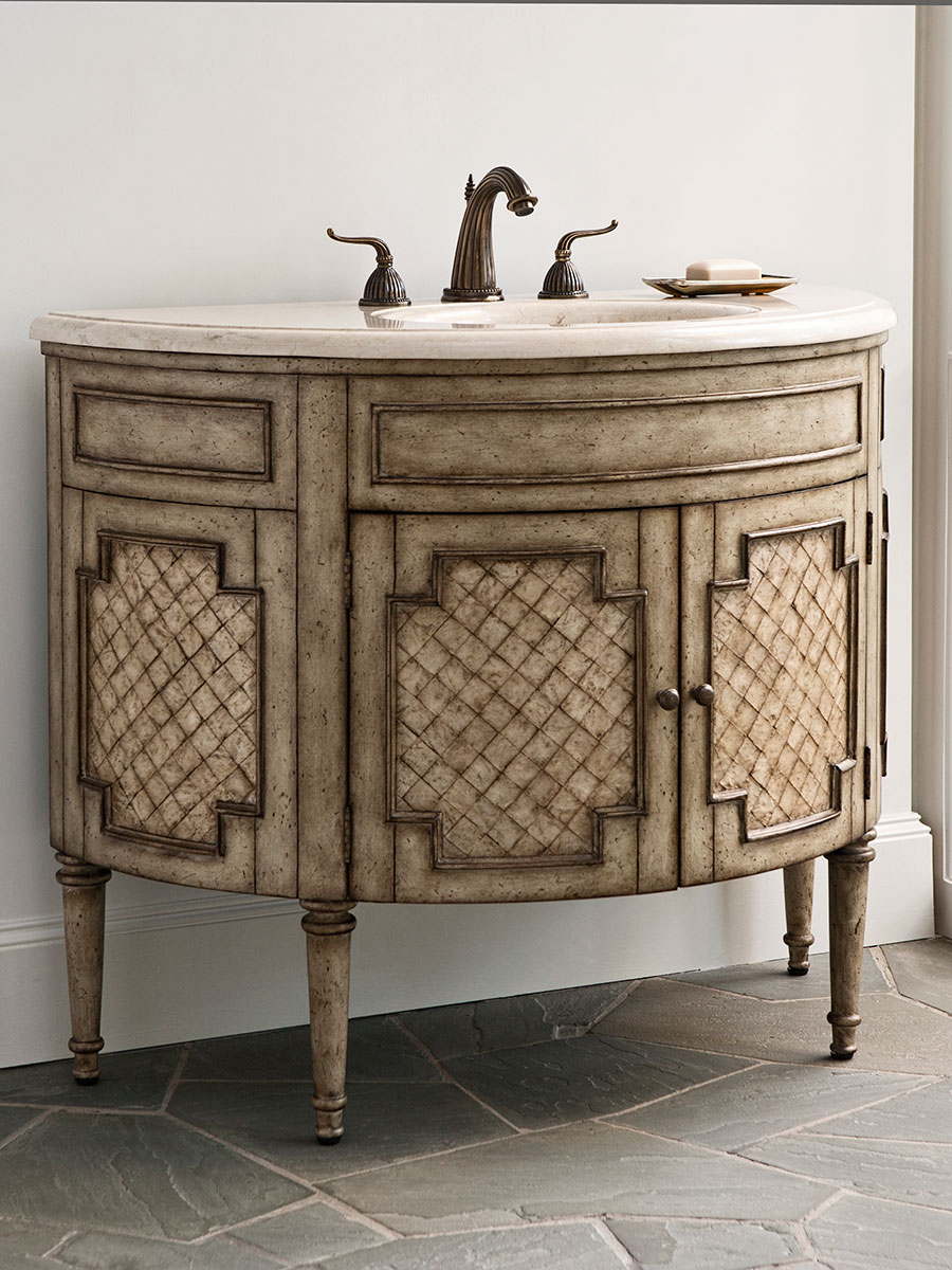 "Modular 44"" Patrician Capiz Shell Single Bath Vanity - Bathgems pertaining to 44 Bathroom Vanity"