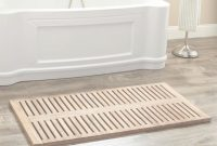 "Modular 47"" X 24"" Rectangular Teak Shower Mat – Bathroom throughout Bathroom Floor Mat"