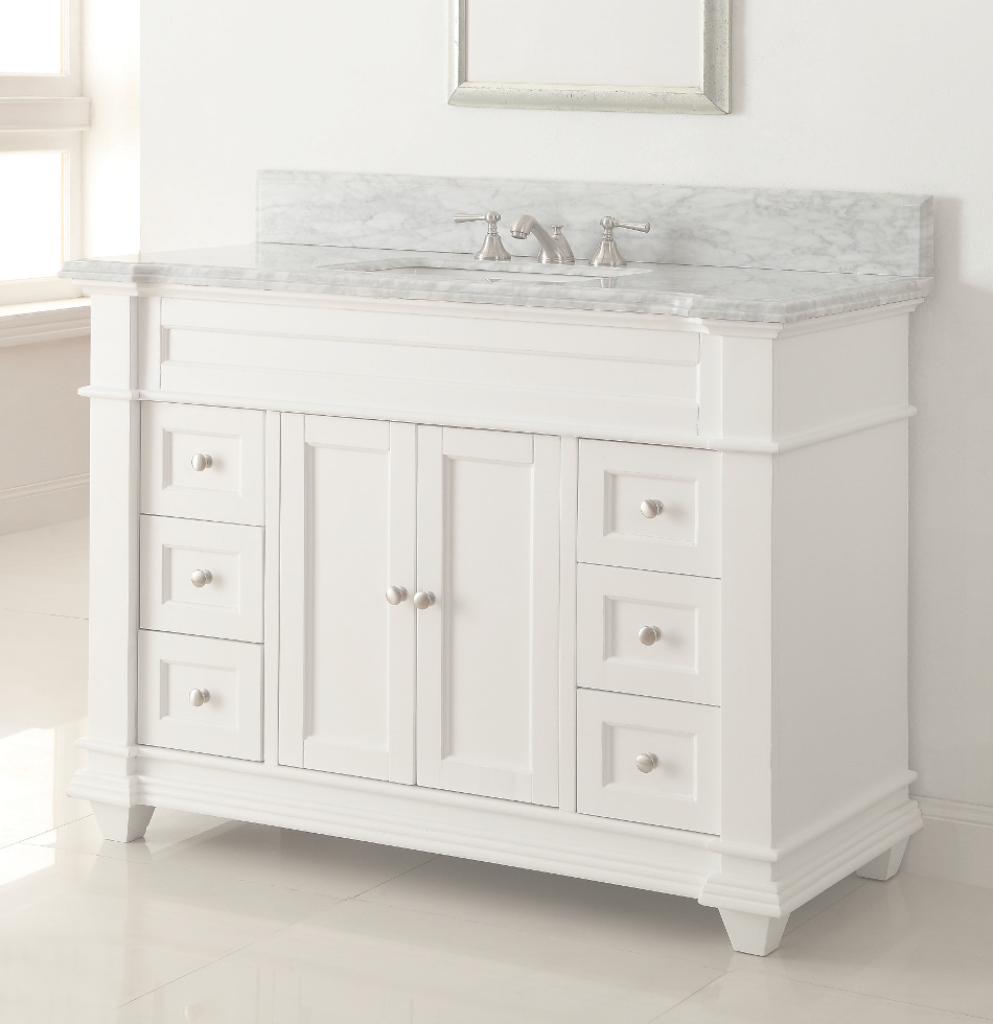 "Modular 48"" Diana (Da-776) : Bathroom Vanity :: Bathroom Vanities :: Bath within Lovely 36 White Bathroom Vanity"