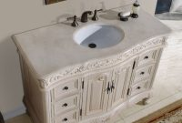 "Modular 48"" Ella – Bathroom Vanity Single Sink Cabinet (White Oak Finish inside 44 Bathroom Vanity"