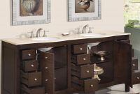 "Modular 72"" Perfecta Pa-5126 Bathroom Vanity Double Sink Cabinet (Dark inside Dark Bathroom Vanity"