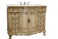 Modular Adelina 42 Inch Traditional Antique Bathroom Vanity, Fully Assembled for 42 In Bathroom Vanity