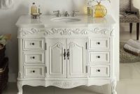 Modular Adelina 42 Inch Traditional Style Antique White White Bathroom Vanity regarding 42 Bathroom Vanity Cabinets