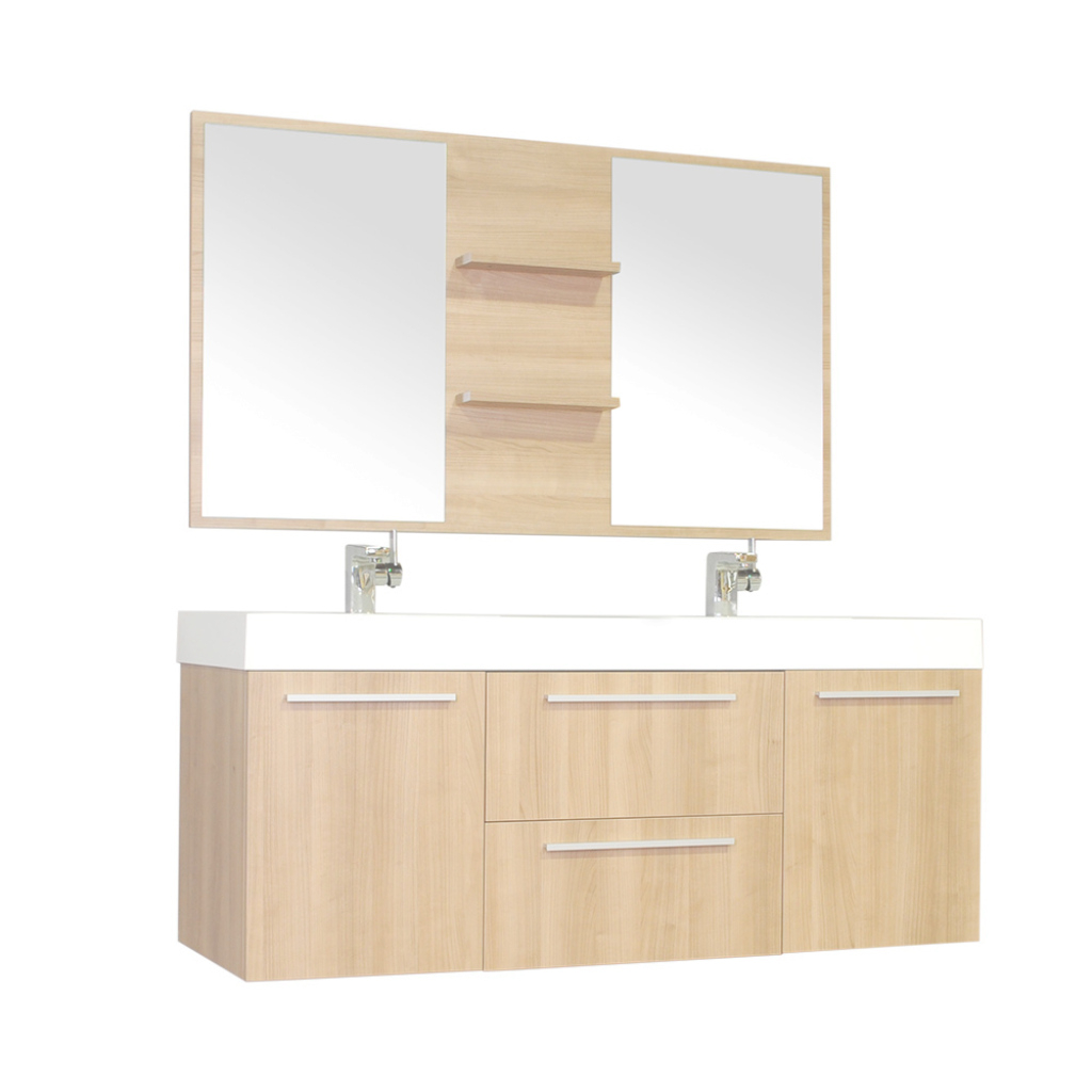 "Modular Alya Bath At-8047-Lo 54"" Double Modern Bathroom Vanity 