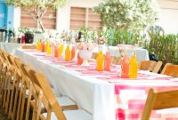 Modular Amazing-Looked-In-White-Rectangle-Dining-Table-Additional-Orange-And pertaining to Baby Shower Venues