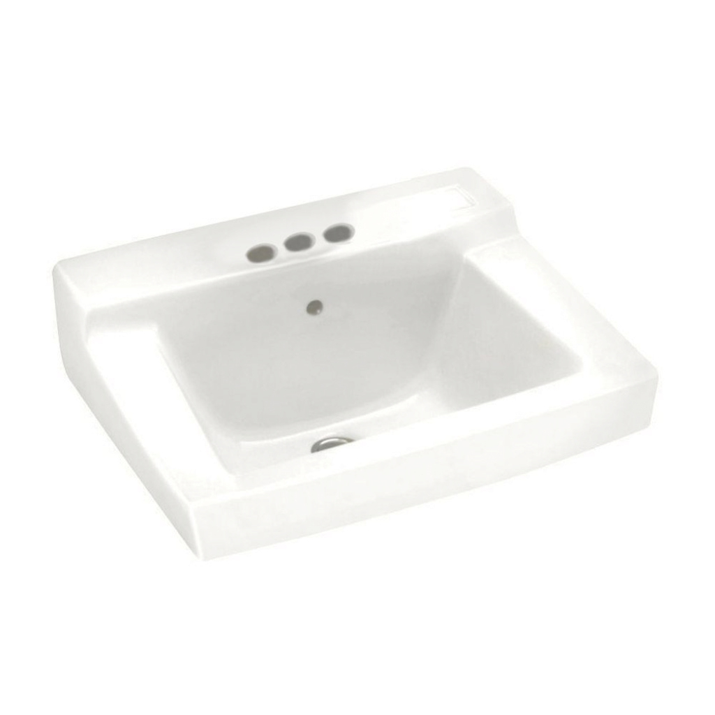 Modular American Standard Declyn Wall-Mounted Bathroom Sink In White for Unique Wall Mount Bathroom Sink