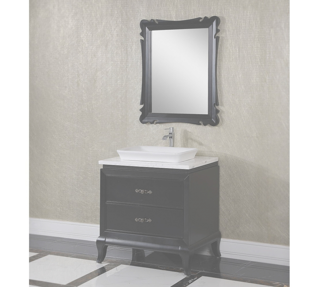 Modular Antique Wk Series 32 Inch Vessel Sink Bathroom Vanity Black Finish pertaining to Bathroom Vanity With Vessel Sink